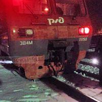 Сход двух колесных пар вагона электропоезда на станции Голицыно