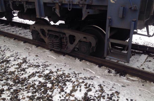 В Челябинске железнодорожный вагон сошел с рельсов