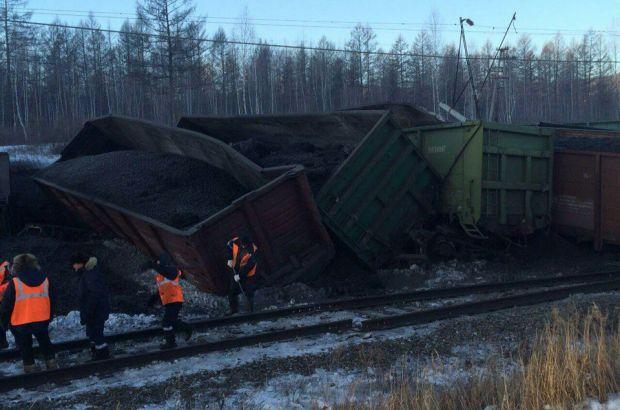 Сход вагонов грузового поезда на перегоне Кендагиры – Ксеньевская