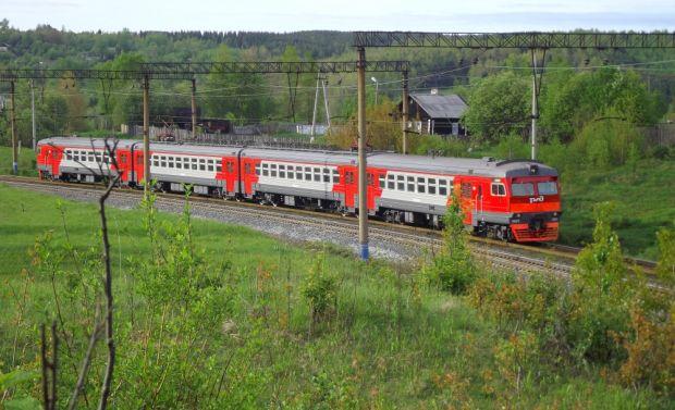 В Прикамье частично сошел с рельсов электропоезд с пассажирами
